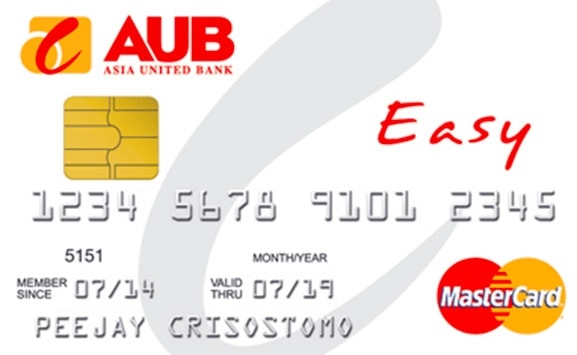 Best Credit Card Philippines No Annual Fee aub easy mstercard