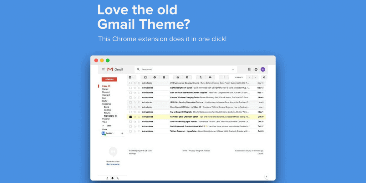How to revert back to the Gmail Classic Theme using Chrome